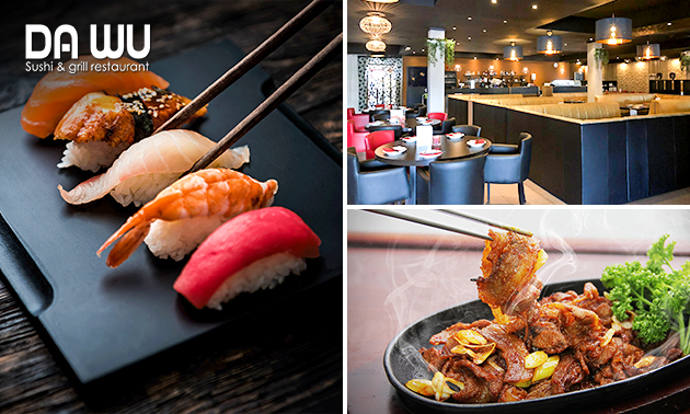 All-You-Can-Eat sushi (3 uur) + kop koffie/thee bij Da Wu