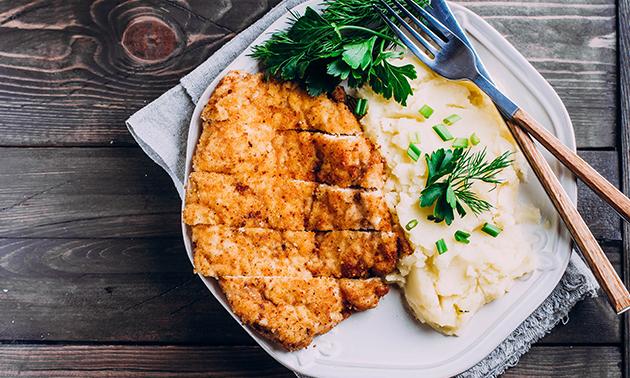 Afhalen: schnitzel naar keuze