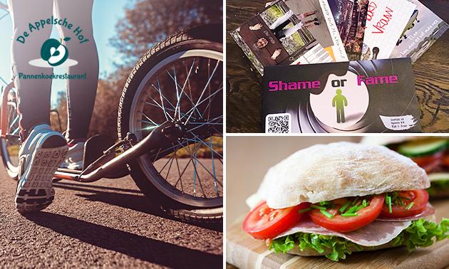 Kickbiketocht + lunchpakket to go + escapegame
