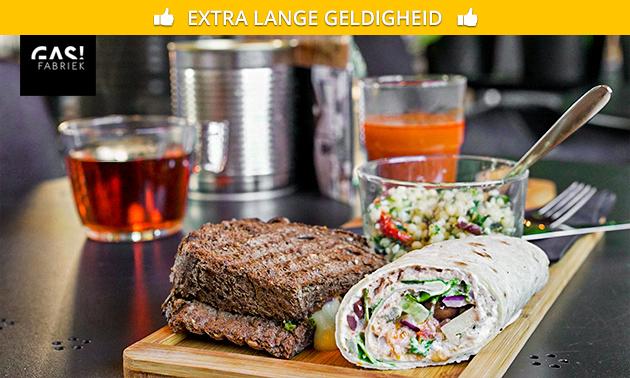 Lunchproeverij met 4 gerechten bij De Gasfabriek