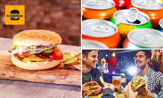 Thuisbezorgd of afhalen: burger + friet + drankje