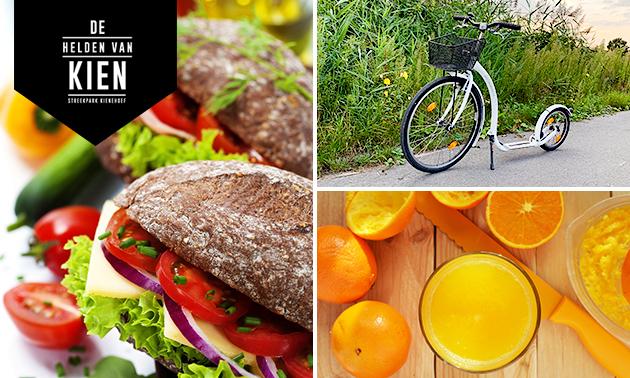 Kickbike-arrangement (2 uur) + lunch to go