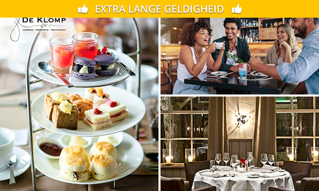 Luxe high tea + glas bubbels bij De Klomp