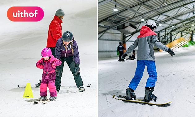 Vrij skiën of snowboarden (2 uur) bij De Uithof
