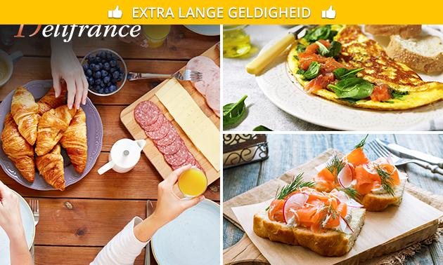 Ontbijt of drankje + snack bij Délifrance in hartje Alkmaar