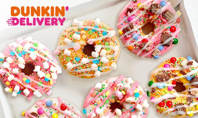 Afhalen: 12 Dunkin' Donuts + 4 cookies of ijs