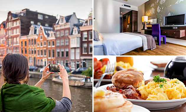 Übernachtung + Frühstück für 2 in Amsterdam