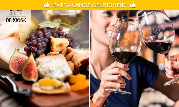 Häppchen-Platte + Wein bei Eet- en Koffiehuis de Kiosk