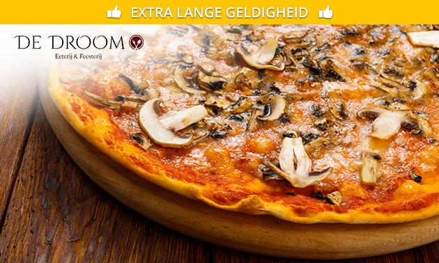 Afhalen: pizza naar keuze + blikje fris
