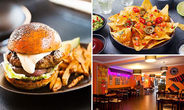 2-Gänge-Burger-Menü bei El Sombrero Hückelhoven