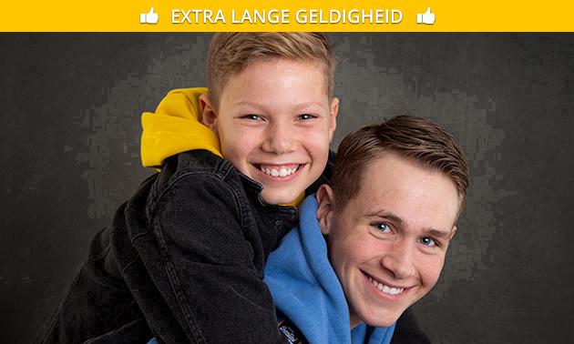 Fotoshoot (max. 4 personen) + 5 foto's