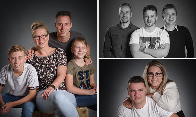 Fotoshoot voor 6 personen + waardebon