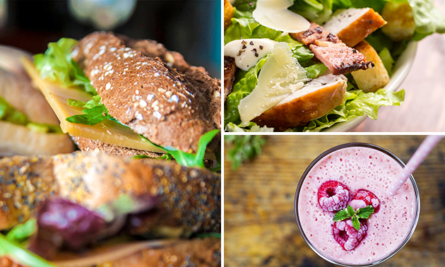 Thuisbezorgd: lunchbag met broodjes + smoothie