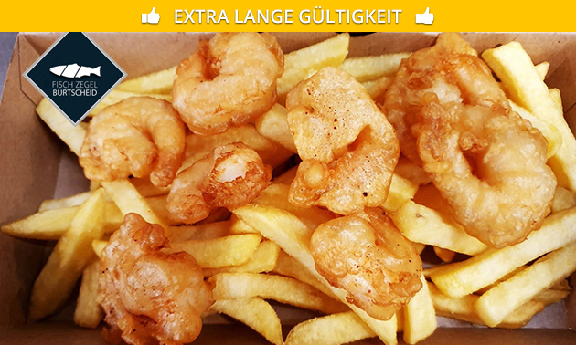 Fish & Chips + Getränk bei Fisch Zegel