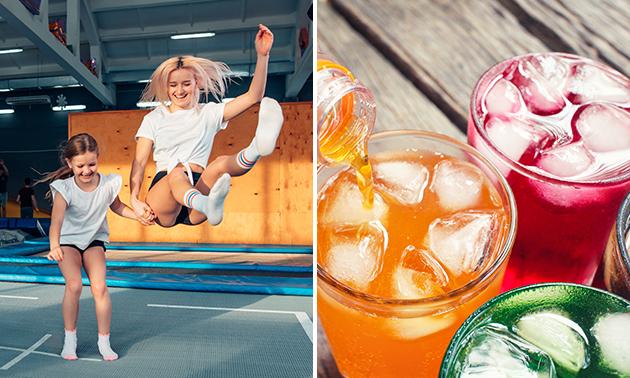 1 uur trampolinespringen + glas limonade