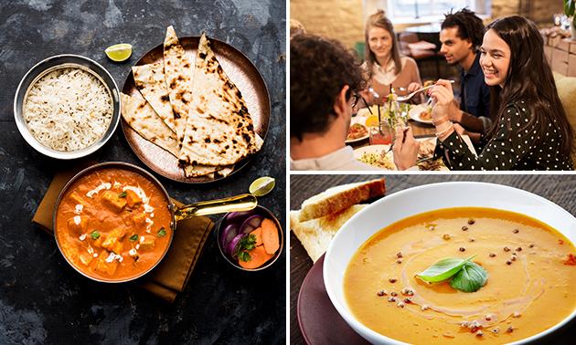 Indisches 2-Gänge-Mittagsmenü