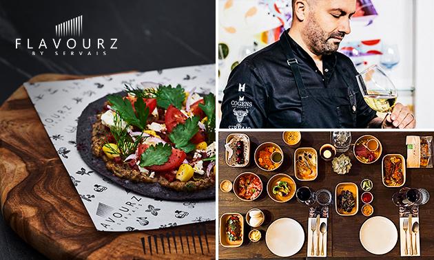 Afhalen of thuisbezorgd: sharingbox met 8 gerechten van FlavourZ