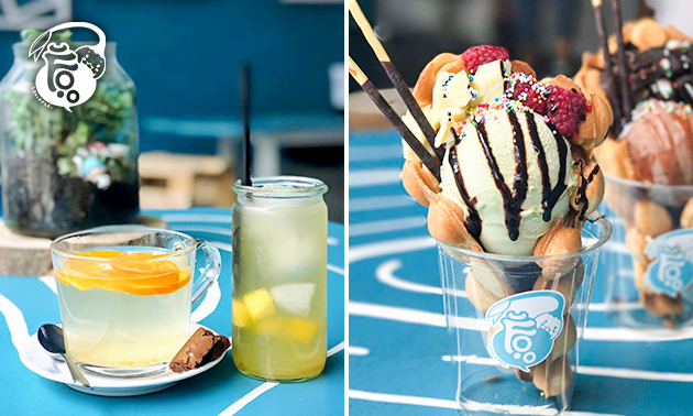 Bubble waffle + drankje naar keuze in hartje Rotterdam