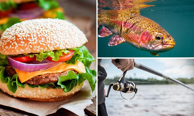 Vissen (4 uur) + broodje met snack + drankje