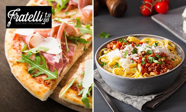 Thuisbezorgd of afhalen: pizza of pasta + frisdrank