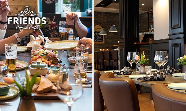3-gangendiner à la carte + koffie/thee bij Friends Grand Café