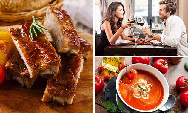4-gangen high dinner + voorafje bij Gasterij 't Dorpsgenot