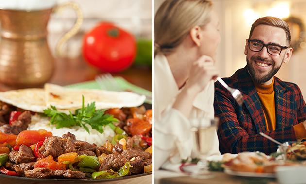 Gyrosteller + Tzatziki + Digestif für 2