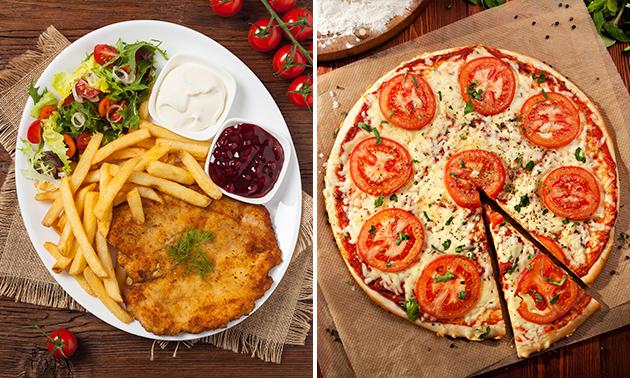 Pizza nach Wahl oder 3-Gänge-Menü nach Wahl
