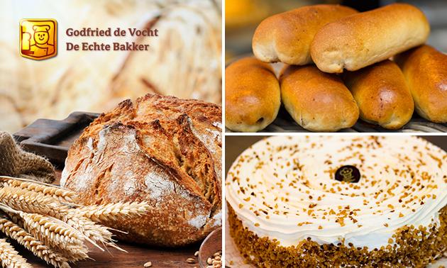 Afhalen: 6 worstenbroodjes + brood + ijstaart