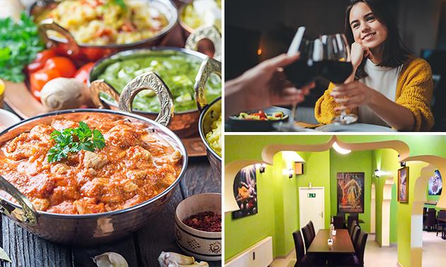 Indisches Mittagsbuffet + Getränk (2 Stunden)