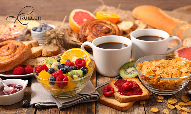 Luxe ontbijtbuffet bij Grand Café Kruller