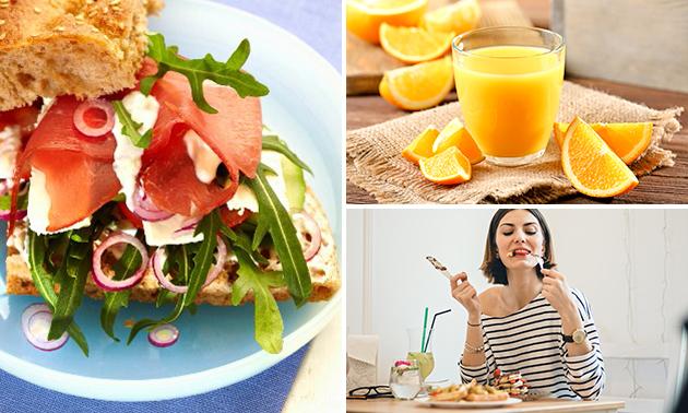 Afhalen: broodje naar keuze + verse jus + soep of salade