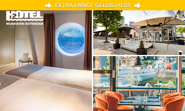 Overnachting + ontbijt + late check-out bij H2OTEL