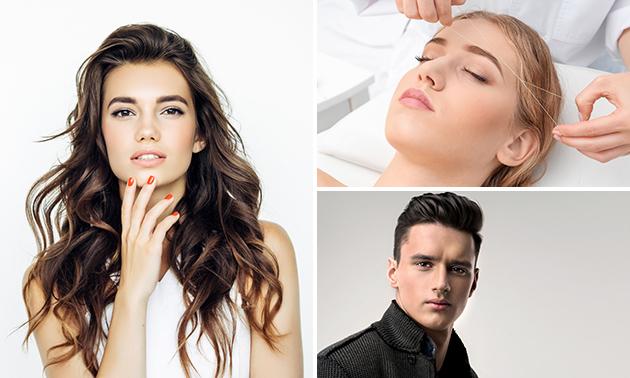 Friseurbehandlung oder Augenbrauen zupfen + färben