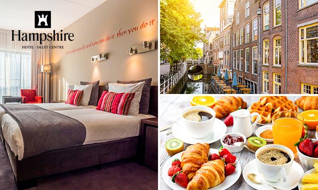 Overnachting voor 2 + Frans ontbijt in Delft
