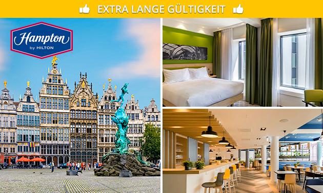 Übernachtung + Frühstück für 2 Mitten in Antwerpen