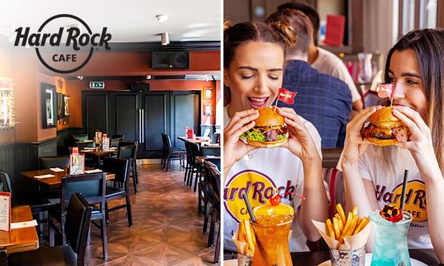 3-gangen keuzediner + drankje bij Hard Rock Cafe