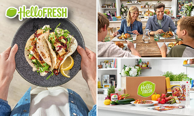 1, 2, 3 of 4 maaltijdboxen van HelloFresh