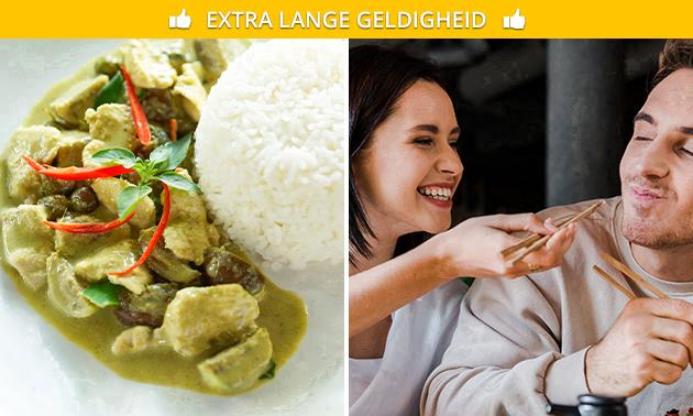Thuisbezorgd of afhalen: Aziatische rijsttafel voor 2 of 3