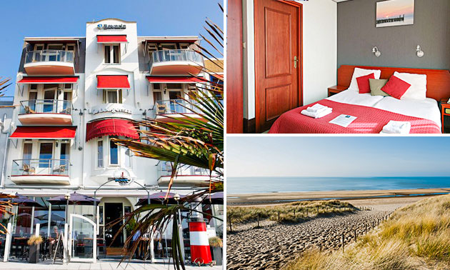 Hotelübernachtung + Frühstück + Wein für 2 am Meer