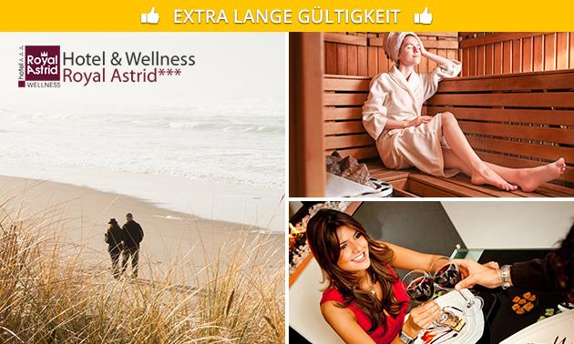 Übernachtung(en) + Wellness + evtl. Menü in Oostende