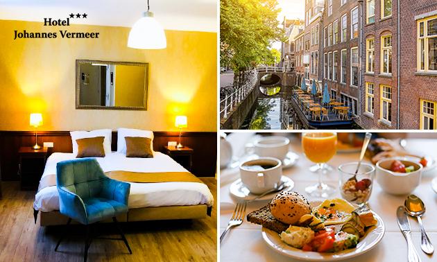 Overnachting(en) + ontbijt voor 2 in hartje Delft