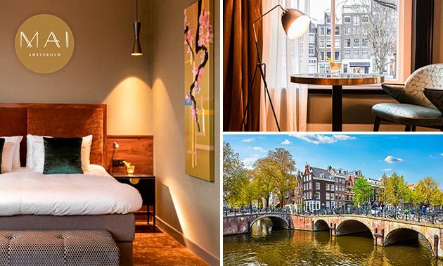 Overnachting voor 2 + ontbijt in hartje Amsterdam