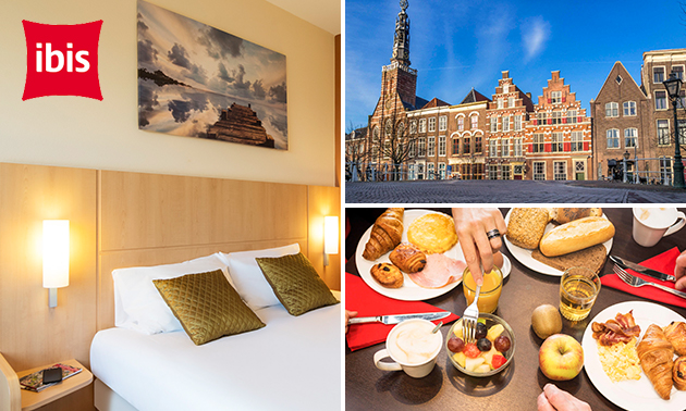 Overnachting + diner + ontbijt voor 2 in hartje Leiden