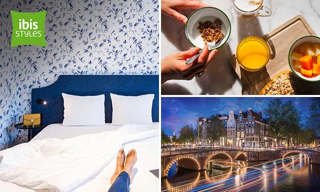 Hotelovernachting + parkeren voor 2 nabij Amsterdam