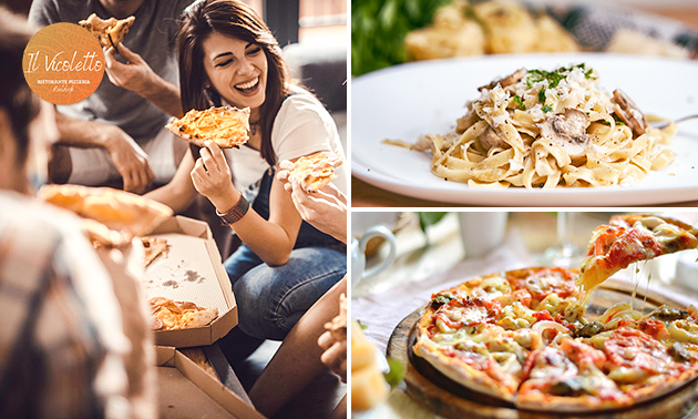 Afhalen: pizza/pasta of 3-gangendiner van Il Vicoletto