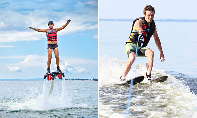 Flyboarden (20 min) of waterskiën (60 min)