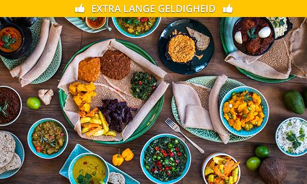 Afhalen: Ethiopisch gerecht of 2-gangen keuzediner