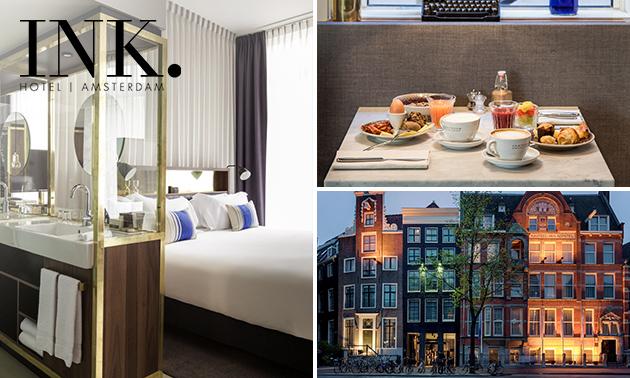 Luxe overnachting + ontbijt voor 2 in hartje Amsterdam