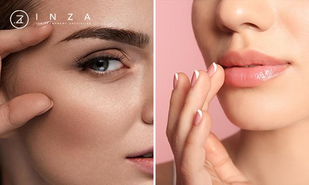 Augenbrauen oder Lippen Permanent Make-up